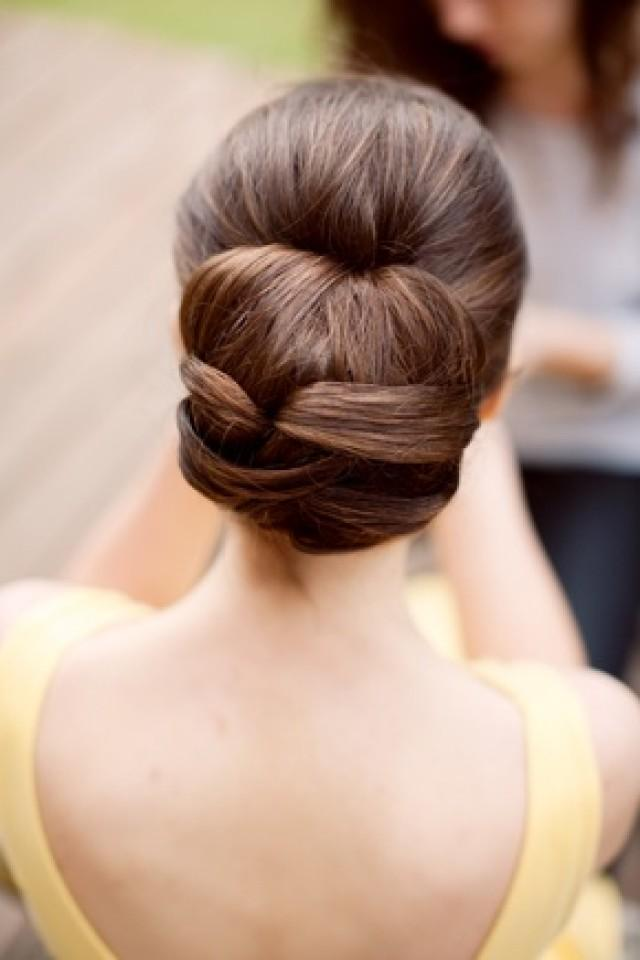 sweet 15 hairstyles for long hair : Updo Hair Model - Beautiful Straight Wedding Hair Updo #2048177 ...
