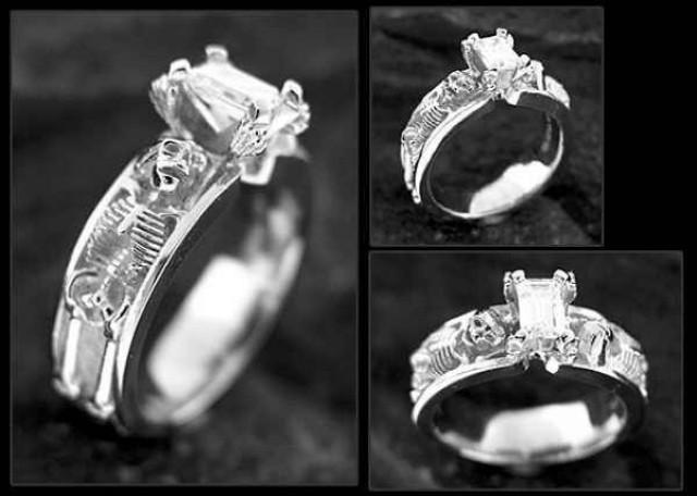 Halloween Skeleton Engagement Ring Must Have 2048462 Weddbook