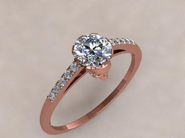 Halloween Rose Gold Skull Engagement Ring 2048464 Weddbook