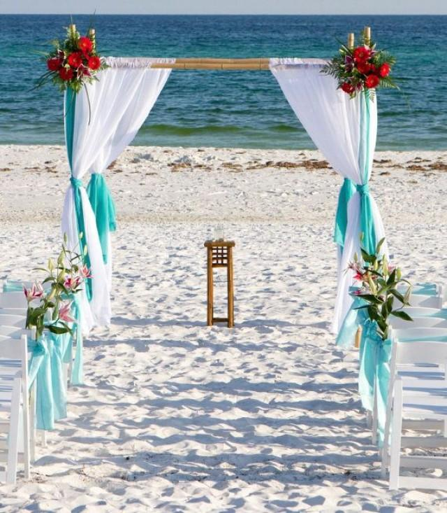 Beach Wedding Altar Decorations: Strand-Hochzeit Bamboo Arbor Arch Chuppa Altar,