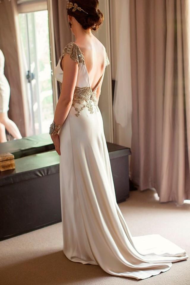 Backless dresses backless wedding gowns 2050183 weddbook for Backless wedding dress bra