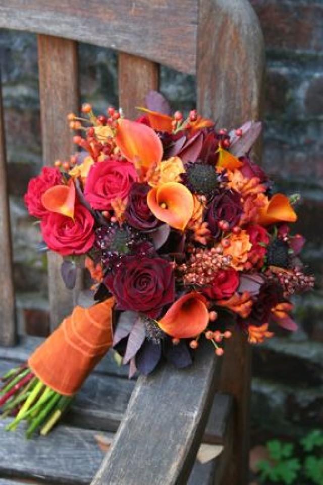 Autumn Wedding Autumn Bouquet Colors Are Beautiful