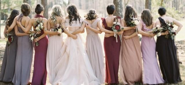 6b515ae9ac9 BRIDESMAID TRENDS Berry   Jewel Tone Bridesmaid Dresses - Weddbook