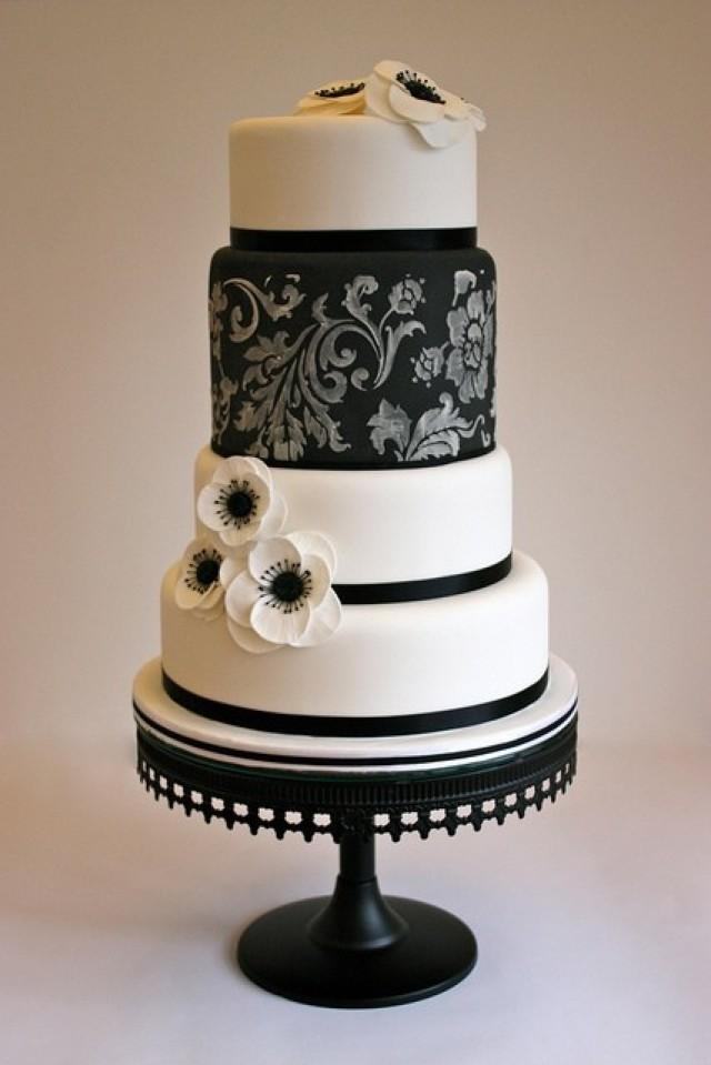 black and white wedding black white cake 2051145 weddbook. Black Bedroom Furniture Sets. Home Design Ideas