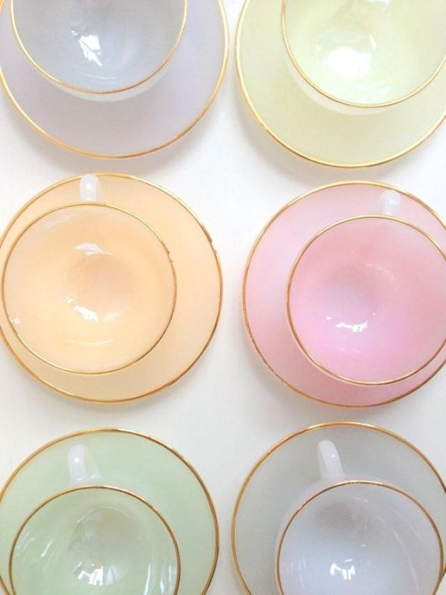 French pastel tea set