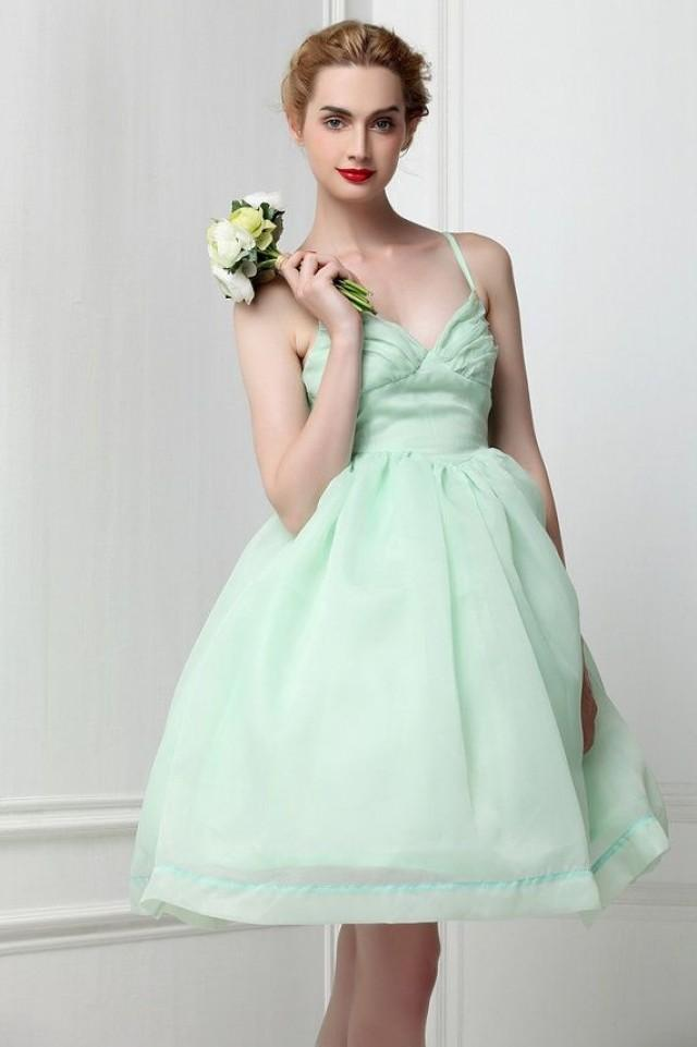 Organza mint green ballet tutu bridesmaid dress fairy for Mint green wedding dress
