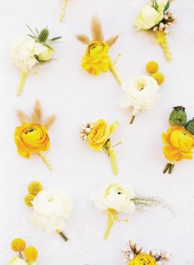 Yellow Flowers At Wedding : Groom style weddbook