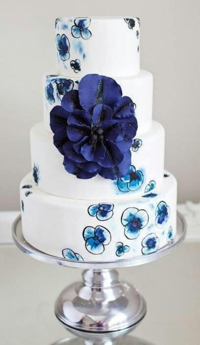 Wedding Cake Designs Blue And White : Wedding Cupcakes - Blue And White Cake #2053514 - Weddbook