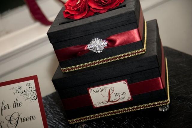 Vintage Style Wedding Card Box Money Holder Custom Card Box – Red Wedding Card Box