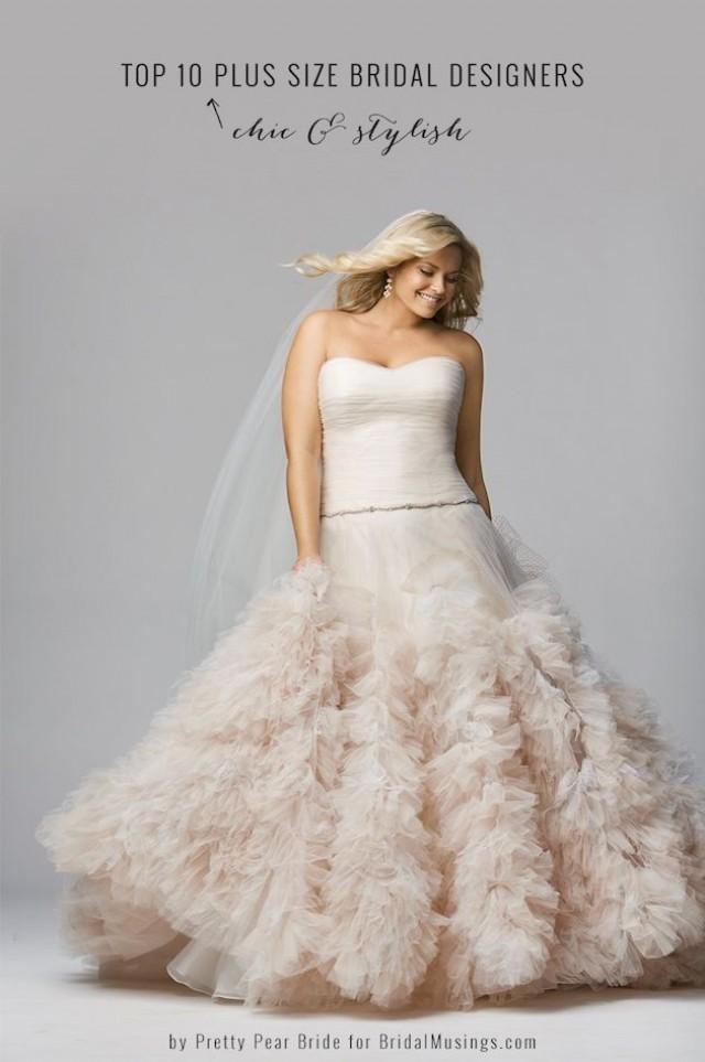 Top 10 plus size wedding dress designers by pretty pear bride 2054564