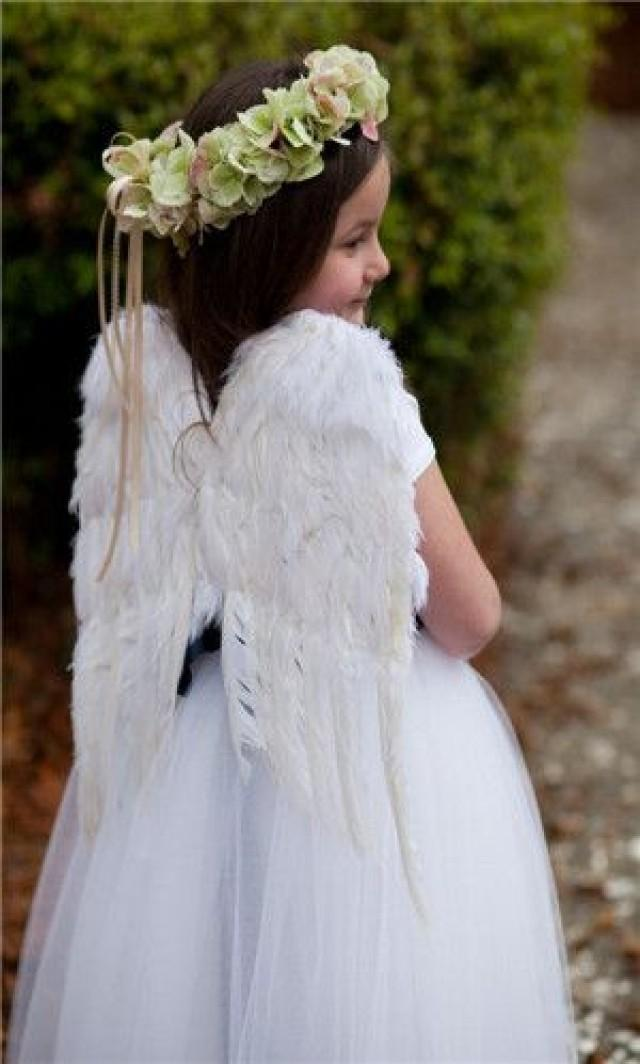 Ceremony flower girl dress with angel wings 2055432 for Angel wings wedding dress