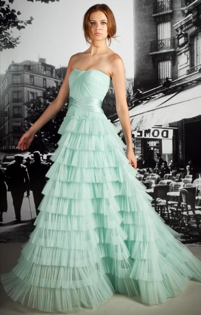 Mint wedding wedding dress 2055560 weddbook for Mint green wedding dress