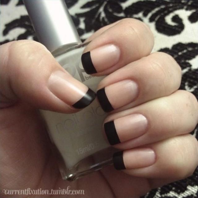 Matte Black French Tips #2057155