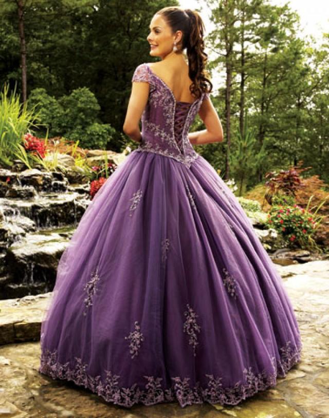 Свадебное платье лавандового цвета