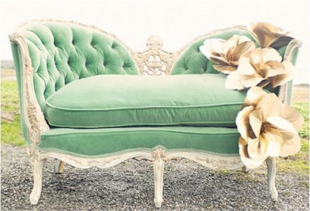Shabby Wedding Mint Green Couch 2057775 Weddbook
