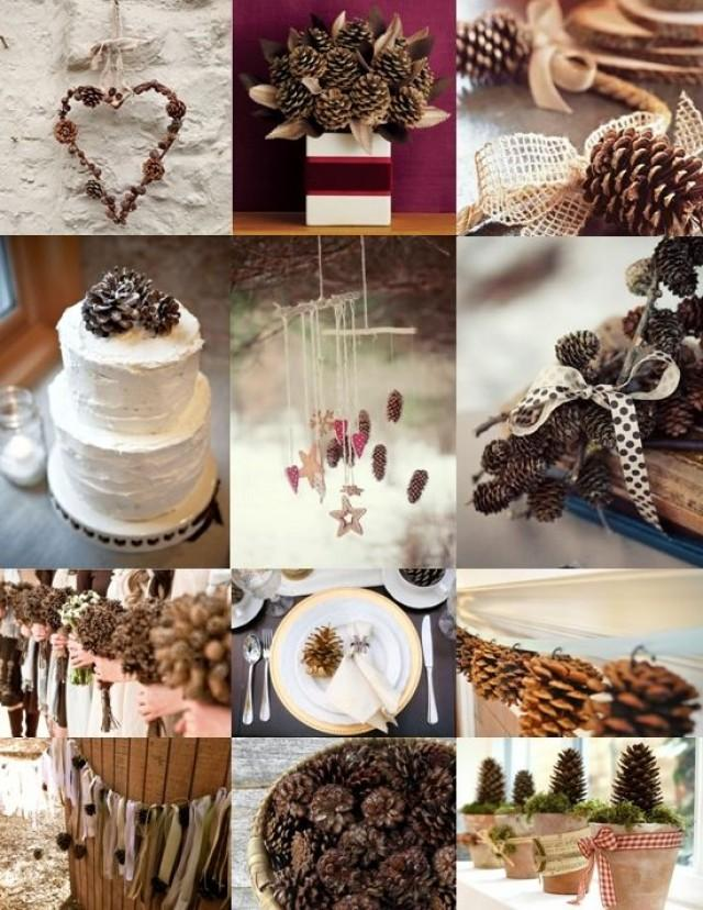Winter wedding pine cone wedding decoration ideas 2057887 weddbook - Crafty winter decorations with pine cones ...