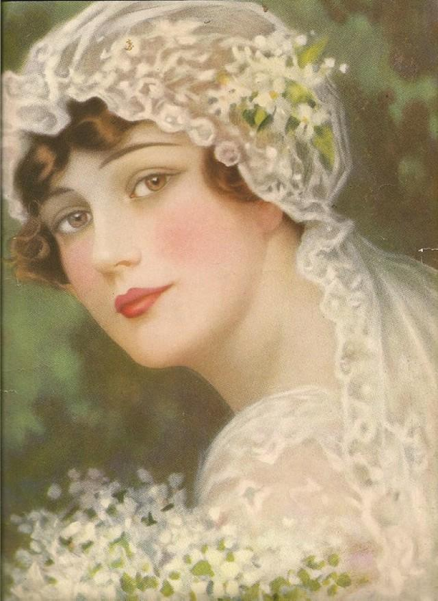 Vintage Paintings Of Women Victorian Weddi...