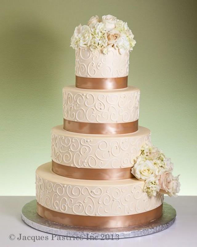 Gold And Ivory Wedding Cakes Wedding Cake Gold Cake