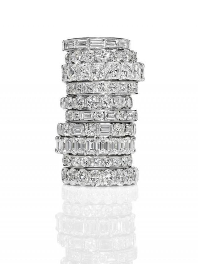 Jewelry harry winston anniversary bands 2058122 weddbook for Harry winston jewelry pinterest