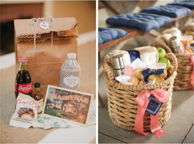 Gift Bag Ideas For Wedding Guests: Baskets Of Goodies #2058271