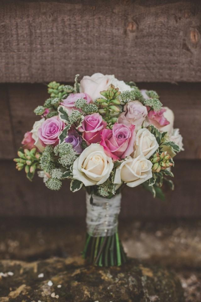 Wedding Bouquets Northamptonshire : Homemade pretty pink green wedding in northamptonshire