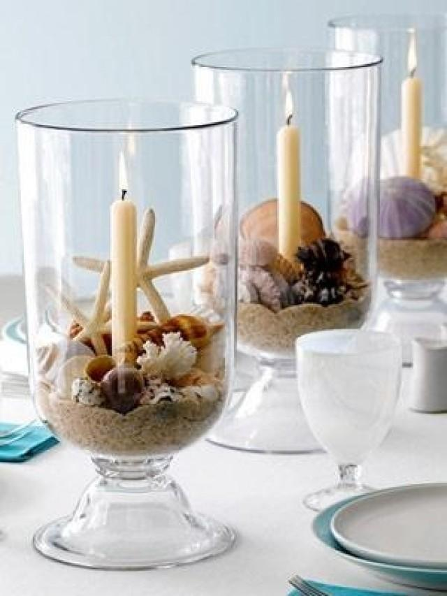 Beach wedding diy centerpiece idea