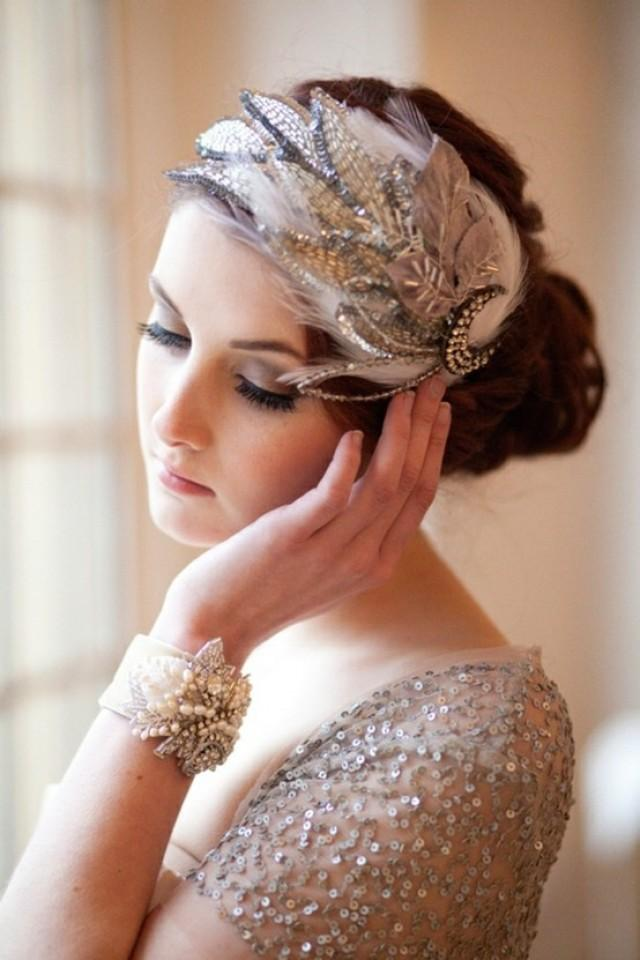 Great Gatsby Wedding - Art Deco Hairpiece #2059605