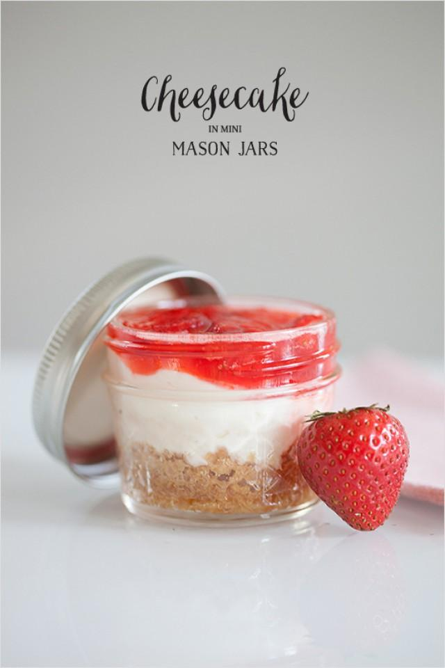 mason jar cheesecake 6 count mini cheesecake jars mini cheesecake jars ...
