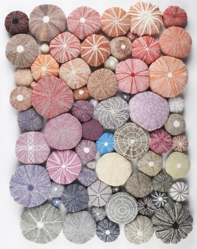 Sea urchin shell crafts