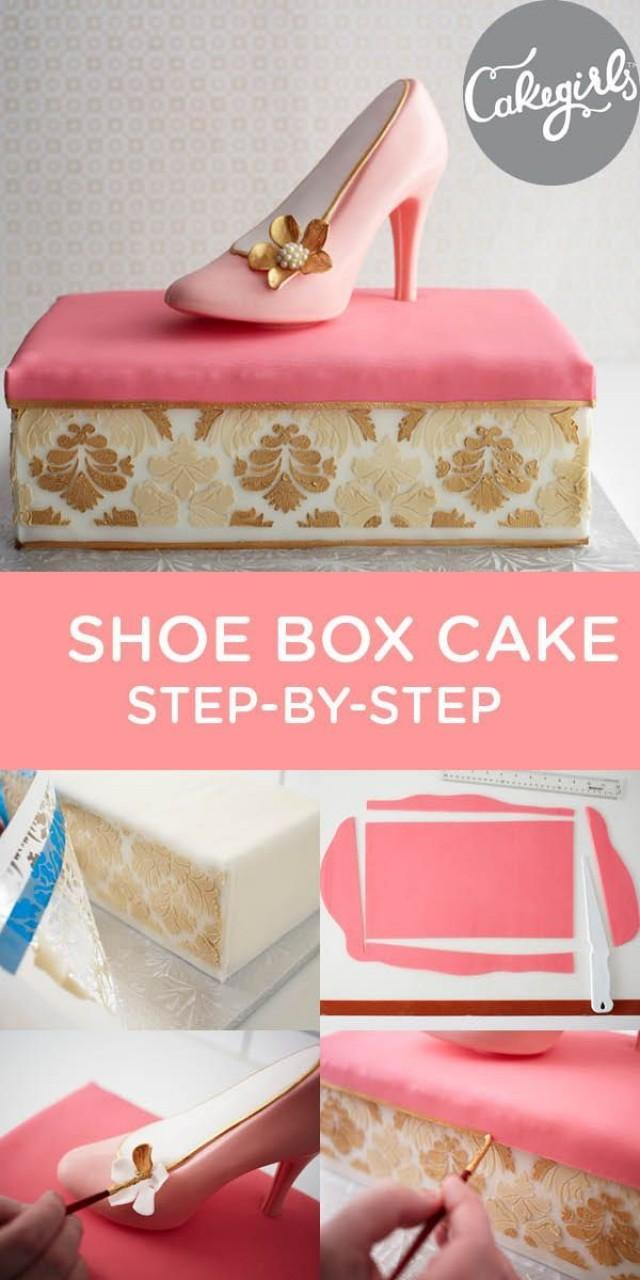 Cake Decorating Ideas Step By Step : Wedding Cakes - Shoe Box Cake Step-by-Step Tutorial ...