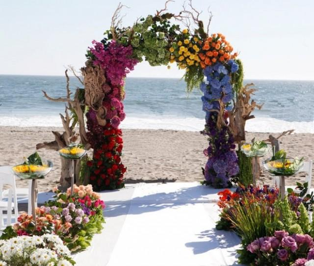 Beach Wedding Arch Decorations: Beach Wedding Ceremony Decor #2060432