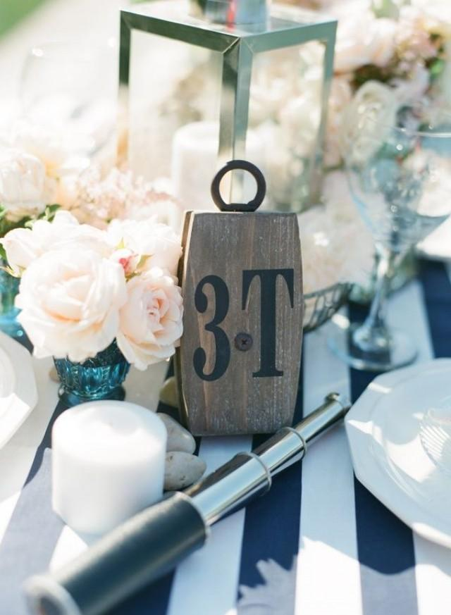 Centerpiece Ideas For Nautical Wedding : Nautical wedding or beach table decorations