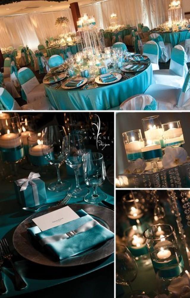 Tiffany blue wedding tiffany themed wedding reception for Blue wedding reception ideas