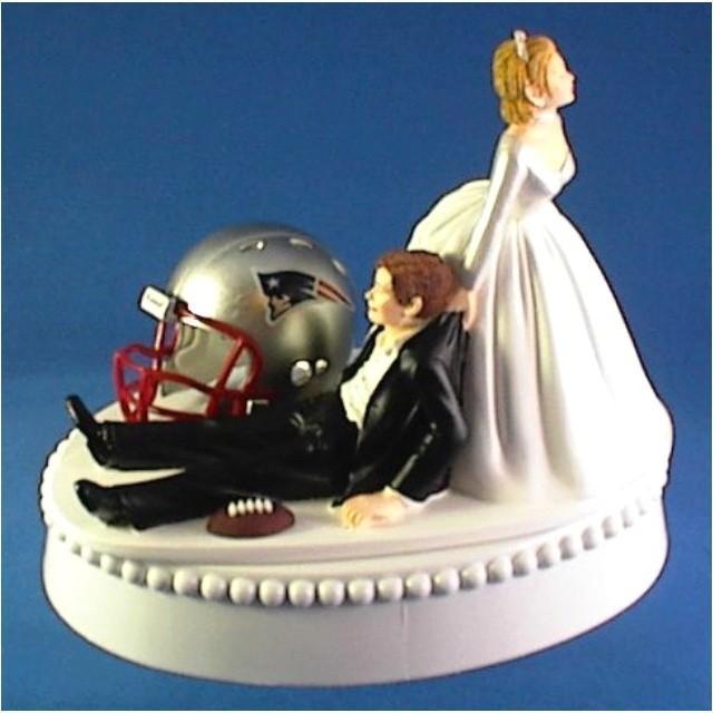 Sports Wedding Patriots Wedding Cake Topper 2061258