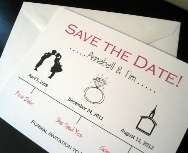 Retro Wedding Timeline Save The Date Wedding Card 2061832 Weddbook