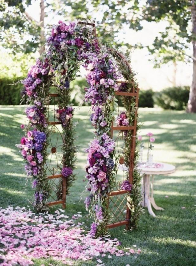 Purple Wedding Archway With Flowers 2062066 Weddbook