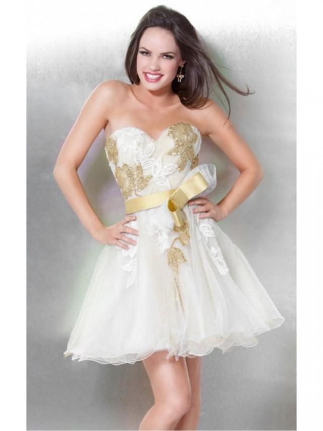 wedding photo - Decent White Sheath Short Sweetheart Dress