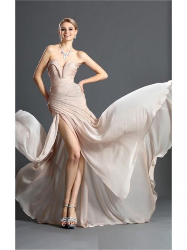 wedding photo - Pink Mermaid Floor-length Sweetheart Dress