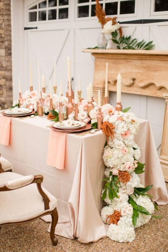 Peach wedding rose gold wedding inspiration 2062895 weddbook - Rosegold dekoration ...