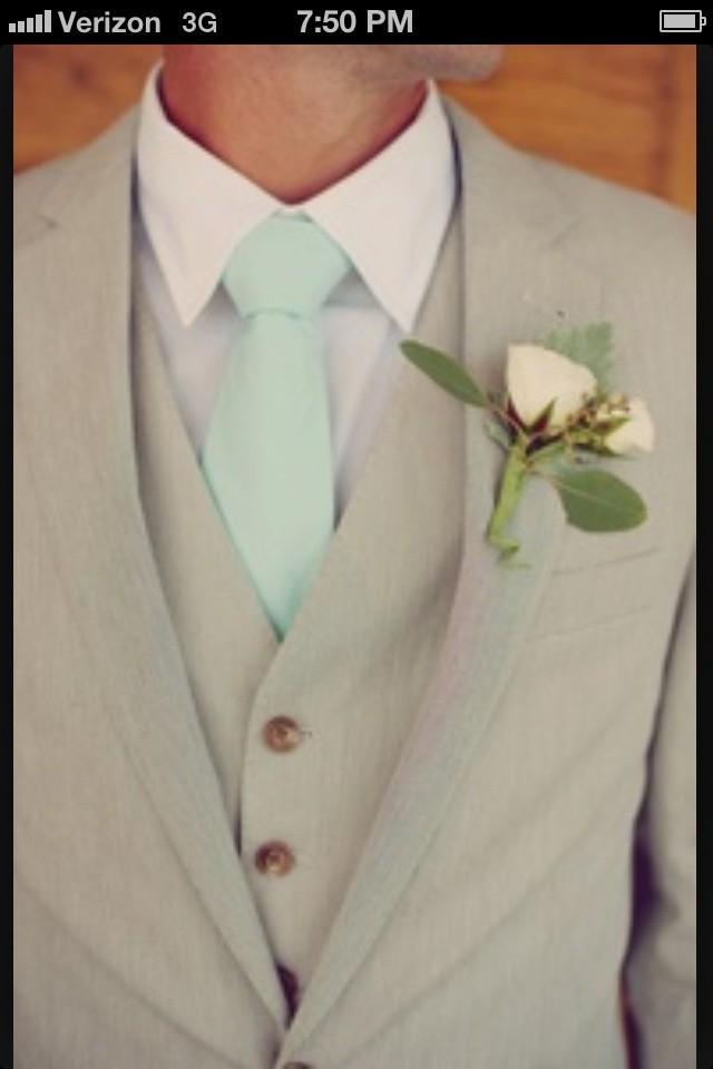 mint wedding mint and grey tux 2062913 weddbook