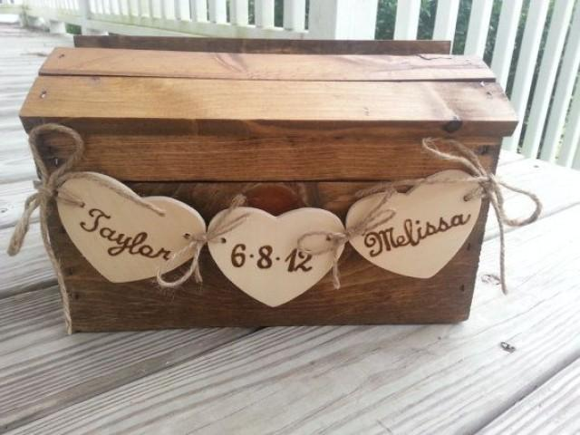wedding photo - Rustic Wedding Card Box, Fall Wedding Card Box, Country Wedding, Barn Wedding, Wedding Card Box