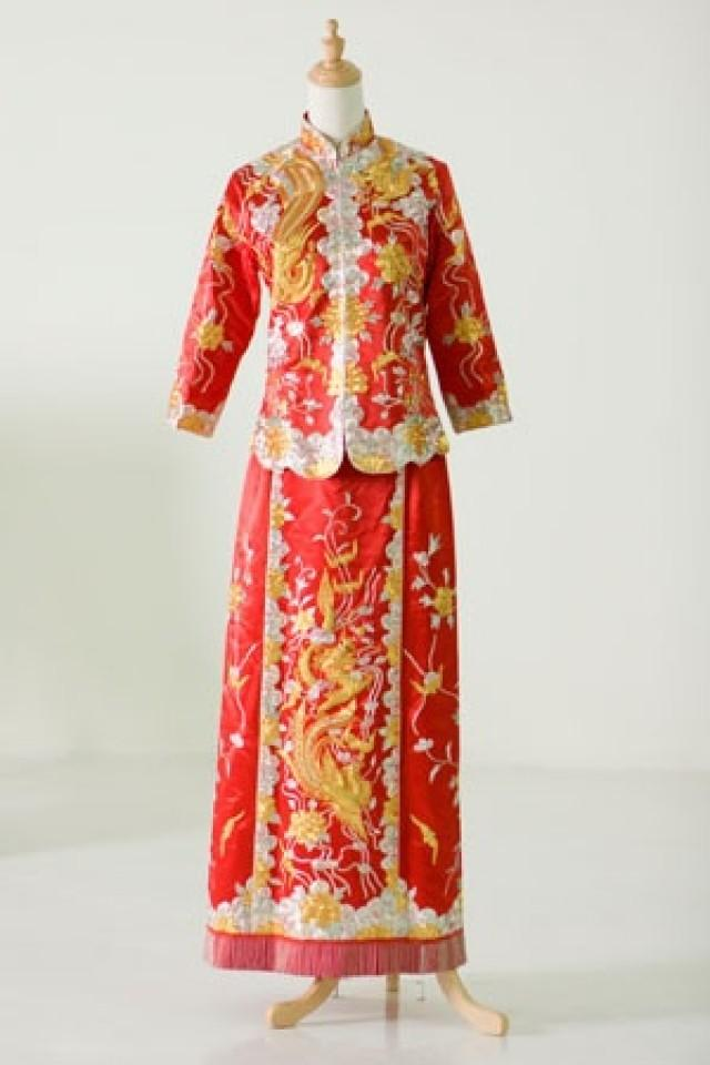 Oriental wedding traditional chinese wedding dress for Chinese wedding dresses online