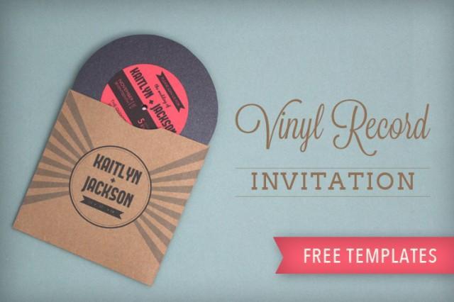 Record Wedding Invitations: Totally Free, Totally Rockin' DIY Vinyl Record Wedding