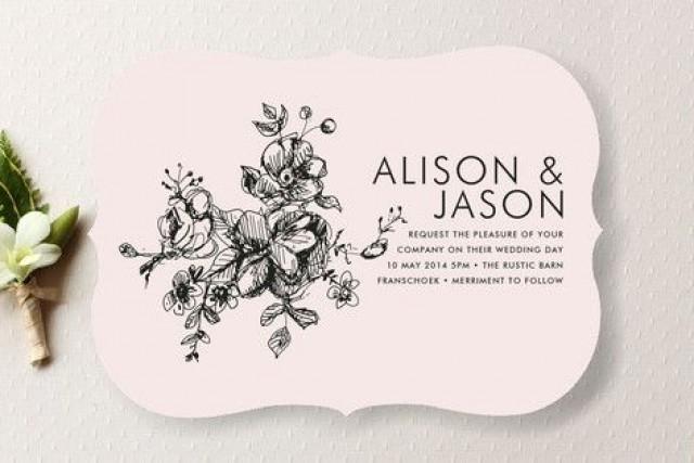 Illustrated Wedding Invitations: Elegance Illustrated Wedding Invitations #2065862