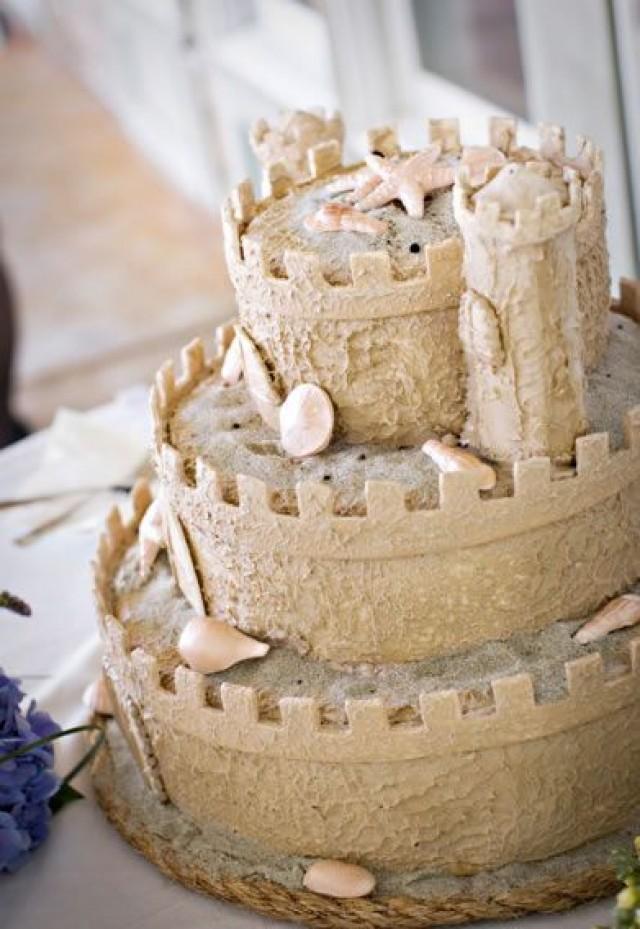 summer wedding sand castle cake 2065896 weddbook. Black Bedroom Furniture Sets. Home Design Ideas