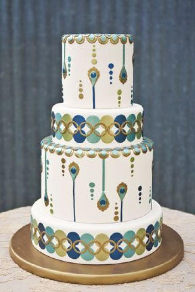 Wedding Cakes - Art Deco Wedding Cake #2066772 - Weddbook