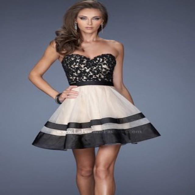 wedding photo - 2013 Black Short Beaded Top Layered Cocktail Dress