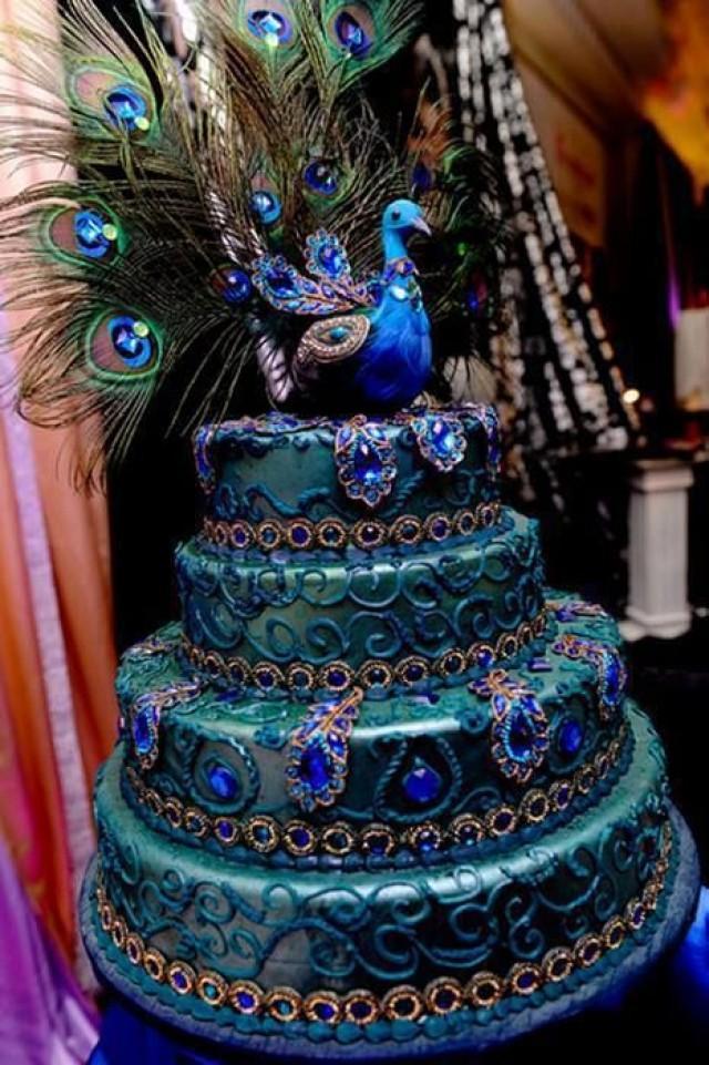 peacock wedding   peacock wedding cake 2067007   weddbook