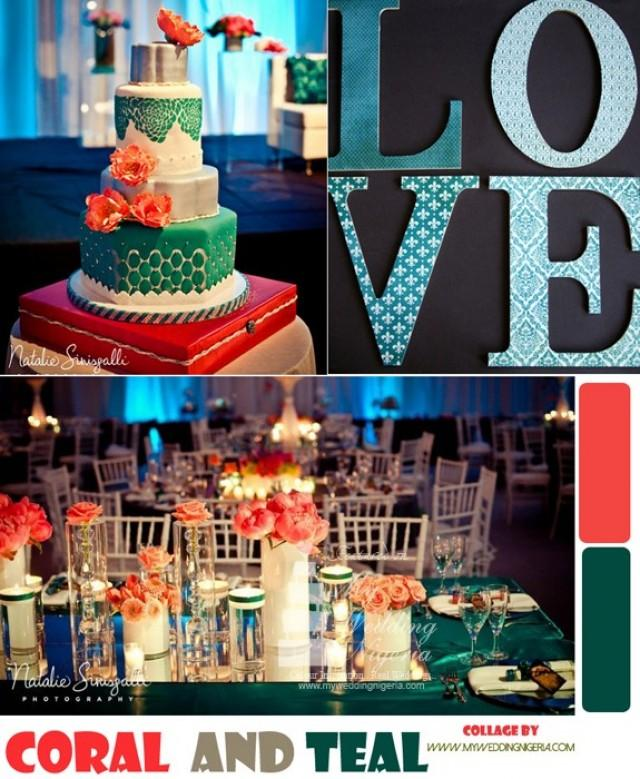 Coral Pink And Teal Color Palette