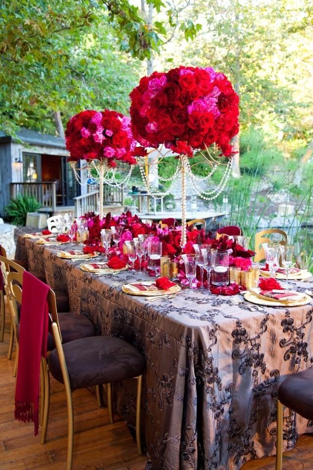 Red wedding decorations weddbook